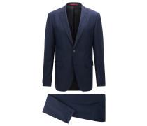 Strukturierter Regular-Fit Anzug aus Schurwoll-Mix