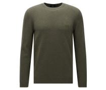 Regular-Fit Pullover aus Baumwolle mit Rundhalsausschnitt