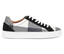 Sneakers aus italienischem Leder mit Karo-Print