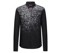 Slim-Fit Hemd aus Baumwolle mit schimmerndem Degradé-Print
