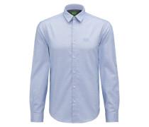 Regular-Fit Hemd aus Baumwolle mit Logo-Stickerei