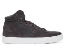 Hightop Sneakers aus Leder und Veloursleder