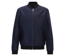 Slim-Fit Wende-Bomberjacke aus Material-Mix mit Teflon-Finish