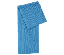 Unifarbener Schal aus Schurwoll-Baumwoll-Mix