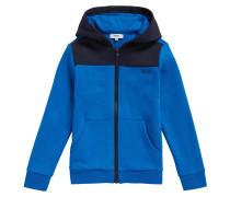 Kids-Sweatshirt-Jacke aus Baumwoll-Mix mit Kapuze