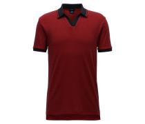 Slim-Fit Poloshirt aus zweifarbiger Pima-Baumwolle