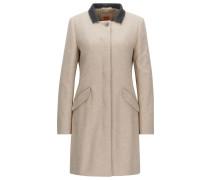 Regular-Fit Mantel aus Woll-Mix mit verdeckter Knopfleiste