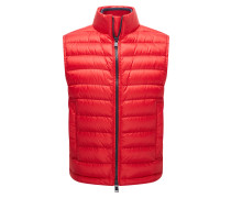 Relaxed-fit gilet in water-repellent technical fabric