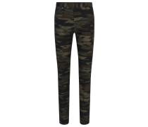 Tapered-Fit-Hose aus Stretch-Baumwolle mit Camouflage-Muster
