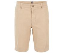 Regular-Fit Shorts aus reinem Leinen