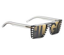 Sonnenbrille aus gestreiftem Acetat