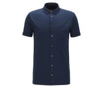 Slim-Fit-Poloshirt aus Baumwolle mit Knopfleiste