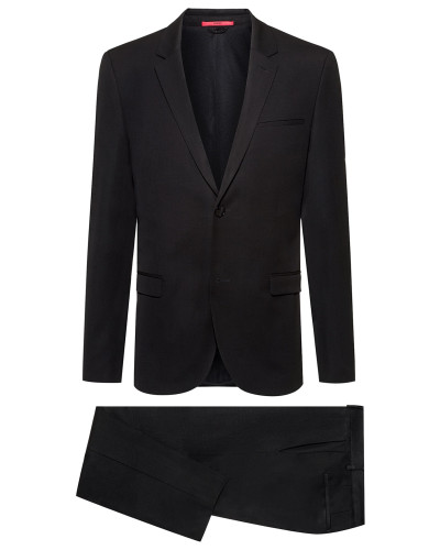 Packable Extra Slim-Fit Suit aus reiner Schurwolle