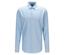 Regular-Fit Hemd aus fein strukturierter Baumwolle