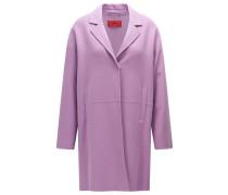 Mantel aus Schurwoll-Mix mit verdecktem Druckknopf