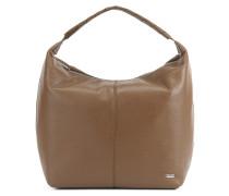 Softe Hobo-Bag aus strukturiertem italienischem Leder
