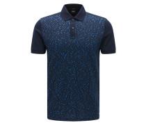 Slim-Fit Poloshirt aus Baumwolle mit Jacquard-Vorderseite