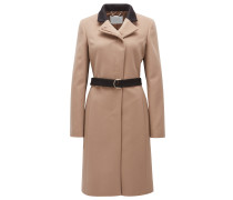 Regular-Fit Mantel aus Schurwolle