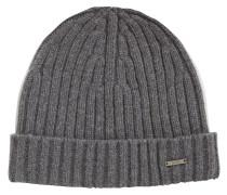 Gerippte Mütze aus Kaschmir-Mix mit Wolle