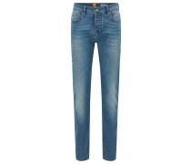 Tapered-Fit Jeans aus Stretch-Denim