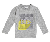 Bedrucktes Regular-Fit Kids-Shirt aus Baumwoll-Jersey
