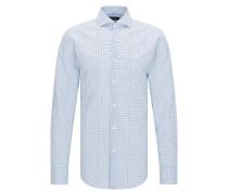 Kariertes Slim-Fit Hemd aus Baumwolle mit Trompe-l'?il-Effekt