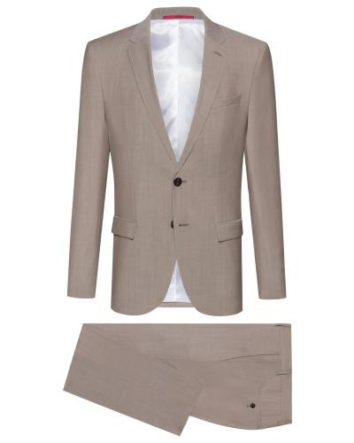 Slim-Fit Anzug aus strukturierter Schurwolle