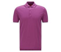 Slim-Fit Poloshirt aus Stretch-Baumwolle mit Kontrast-Streifen