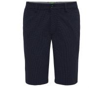 Gepunktete Regular-Fit Shorts aus Baumwoll-Mix