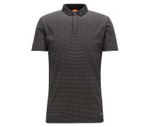 Regular-Fit Poloshirt aus strukturiertem Baumwoll-Jersey