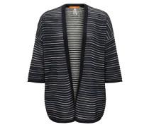 Oversize-Cardigan aus strukturiertem Material-Mix mit Baumwolle und Seide