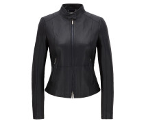 Regular-Fit Bikerjacke aus weichem Leder