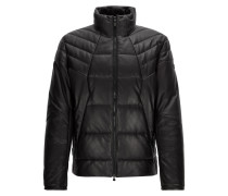 Regular-Fit-Steppjacke aus Leder