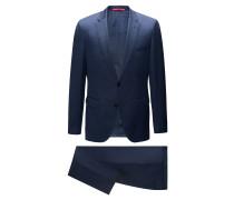 Regular-Fit Anzug aus zweifarbiger Schurwolle