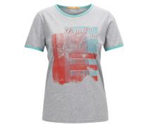 Slim-Fit T-Shirt aus Baumwoll-Jersey mit Retro-Print