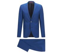 Glänzender Extra-Slim-Fit-Anzug aus Schurwolle