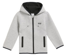 Kids Regular-Fit Jacke aus gebondetem Material-Mix