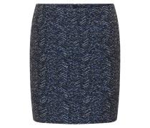 Regular-Fit-Minirock aus garngefärbtem Material-Mix mit Baumwolle