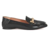 Loafer aus italienischem Leder mit Fransenbesatz