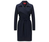 Relaxed-Fit Mantel aus Stretch-Baumwolle mit Rüschen-Detail