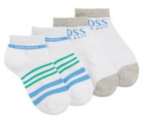 Kids-Socken aus elastischem Baumwoll-Mix im Zweier-Pack