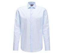 Fein gestreiftes Regular-Fit Hemd aus Baumwolle