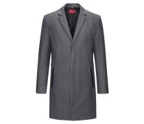 Slim-Fit Mantel aus elastischem Woll-Mix