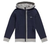 Kids-Sweatshirt-Jacke aus Stretch-Baumwolle mit Kapuze