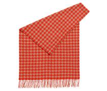 Schurwoll-Schal mit Hahnentritt-Muster