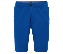 Regular-Fit Shorts aus Stretch-Gabardine