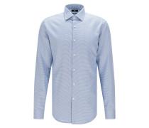 Slim-Fit Hemd aus Baumwolle mit Mikro-Muster