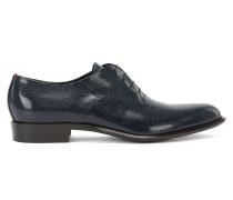 Oxford-Schuhe aus bedrucktem Leder mit Schnürung