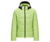 Regular-Fit Daunenjacke aus Material-Mix