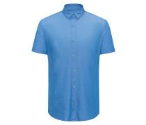 Gemustertes Extra Slim-Fit Hemd aus Baumwolle